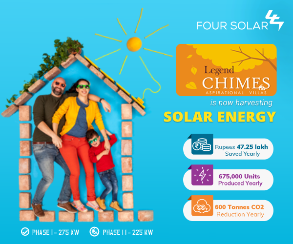 Legend Chimes Harvest Solar Energy - Four Solar - Roof Top Solutions in Hyderabad
